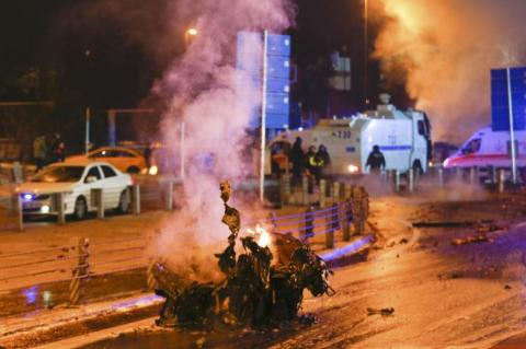 Twin bombings ripped through downtown Istanbul on the evening of 10 December 2016
